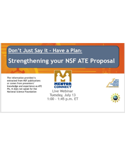 Webinar: Writing Effective Recruitment and Retention Plans for your NSF ATE proposal